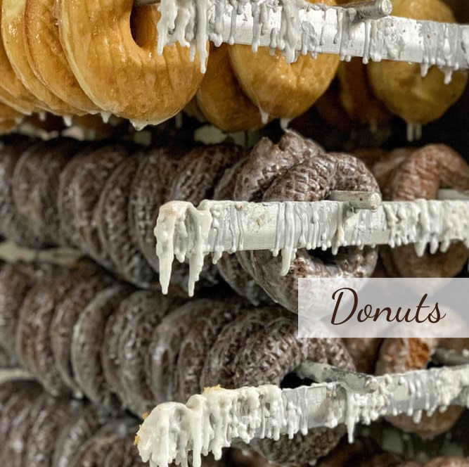 Find big, moist, handmade doughnuts on the Lower Cape and don't forget to pickup homemade breads and pastries while you're here!